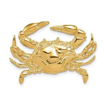 14k Blue Crab Slide