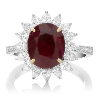 Flowering Ruby Diamond Ring