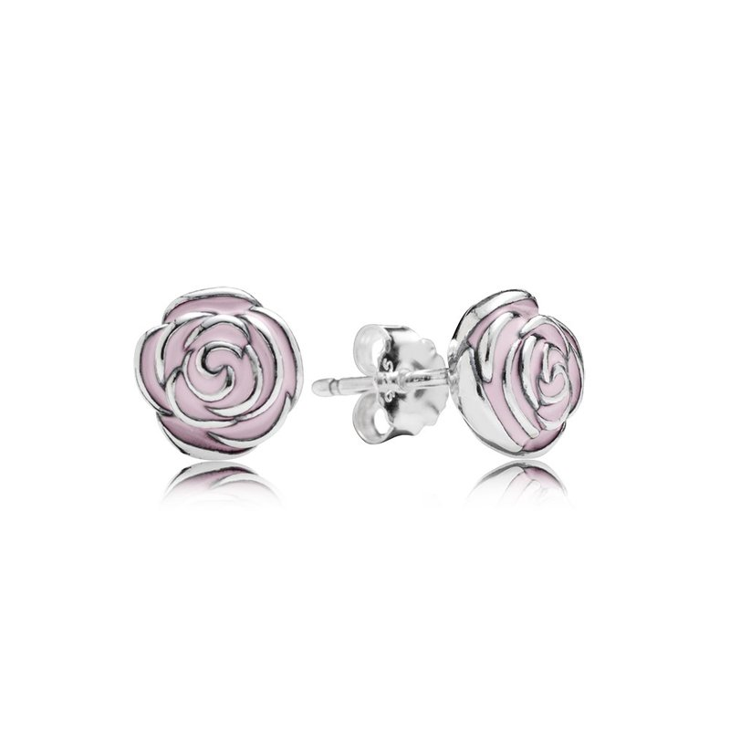d0bf5a0c9 David Arlen Jewelers: PANDORA Rose Garden Stud Earrings, Pink Enamel