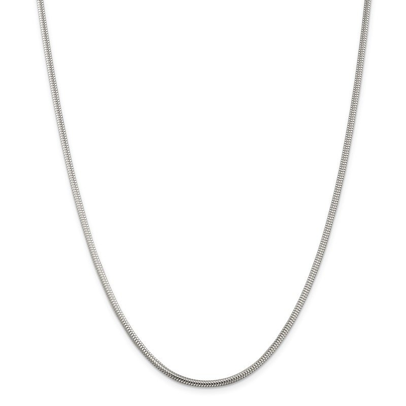 J.F. Kruse Signature Collection Sterling Silver 2.5mm Round Snake Chain
