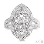 ASHI silver diamond ring