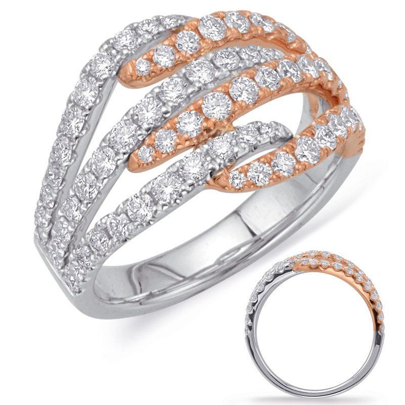 S. Kashi  & Sons Rose & White Gold Diamond Fashion Ring