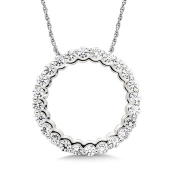 Round Diamond Pendant in 14K White Gold ( 2.02 tw)