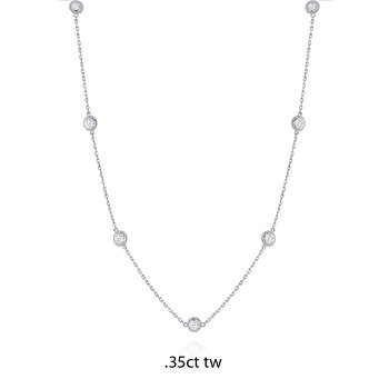 14K Gold Diamond by the Yard Necklace, .35ct tw