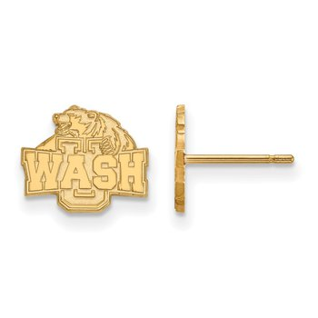 Gold-Plated Sterling Silver Washington University in St. Louis NCAA Earrings