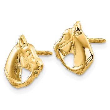 14k Madi K Horse Head Earrings