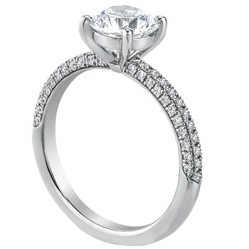 Pave Set Diamond Engagement Ring