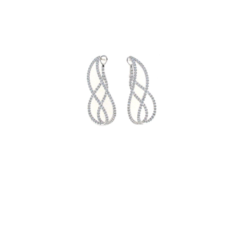 18Kt Gold Diamond Twist Earrings