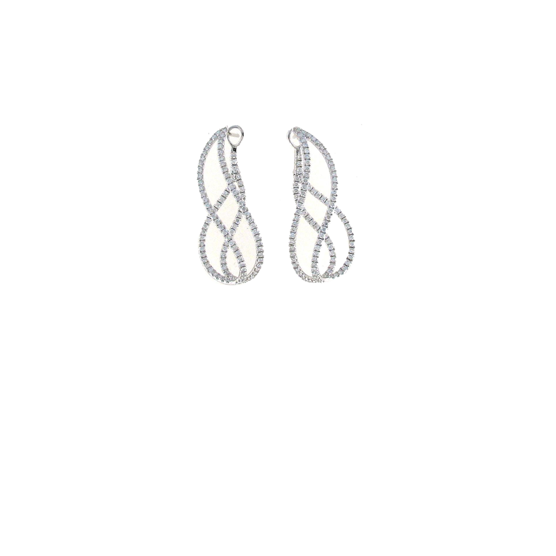 Roberto Coin 18Kt Gold Diamond Twist Earrings