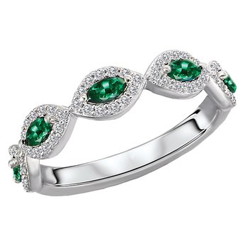 Diamond and Gemstone Fashion Ring