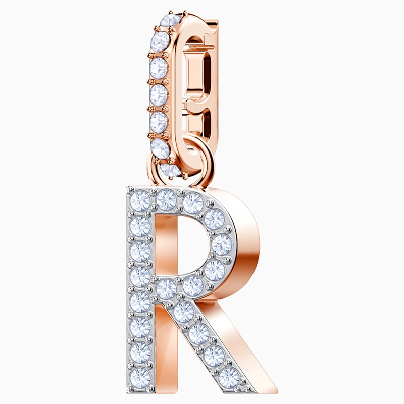 Swarovski Swarovski Remix Collection Charm R, White, Rose-gold tone plated