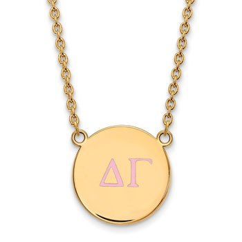 Gold-Plated Sterling Silver Delta Gamma Greek Life Necklace