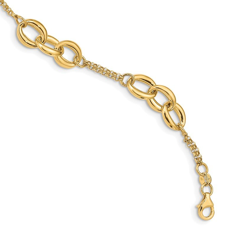 Quality Gold 14K Polished Fancy Link Bracelet