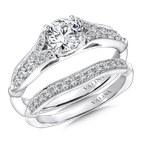 Valina Bridals Mounting with side stones .23 ct. tw., 5/8 ct. round center.