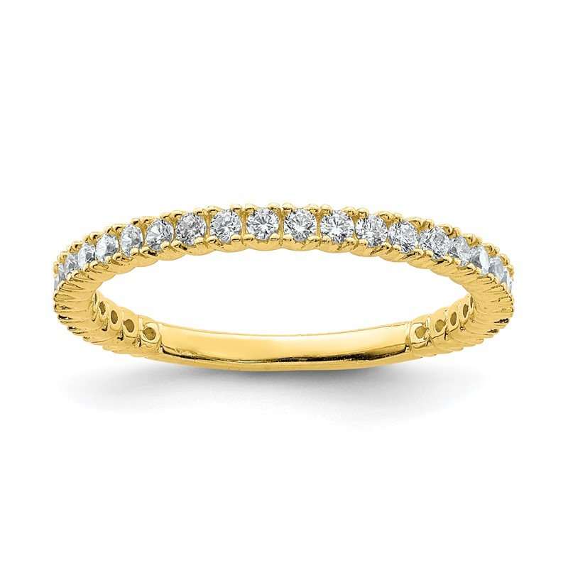 Quality Gold Sterling Silver Yellow-plated 28 Stone CZ Ring