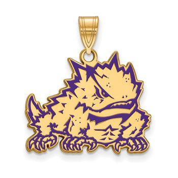 Gold-Plated Sterling Silver Texas Christian University NCAA Pendant