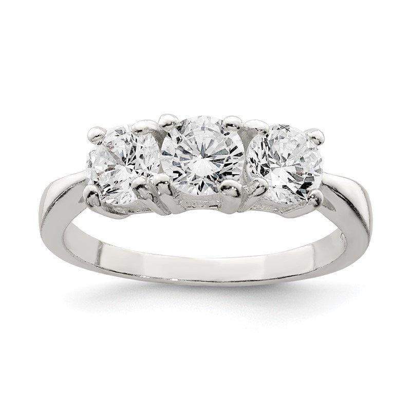 Arizona Diamond Center Collection Sterling Silver CZ Ring