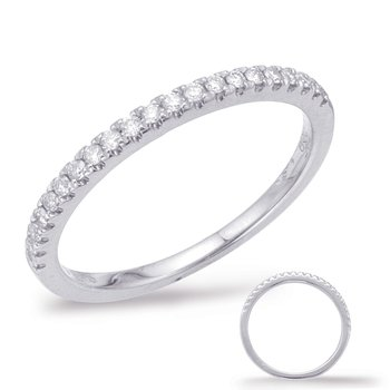 Pink Diamond Wedding Band - White Gold