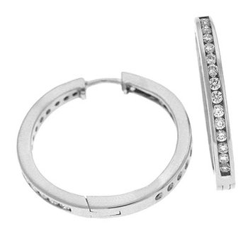 Inner Set Channel Hoop Earring