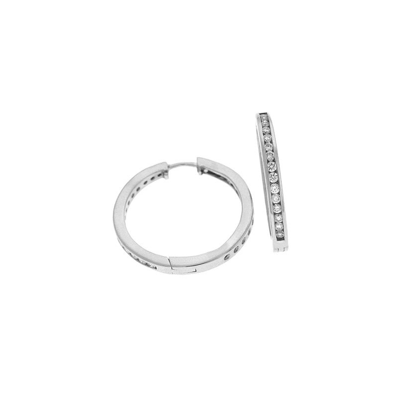 S. Kashi  & Sons Inner Set Channel Hoop Earring