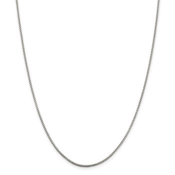 Sterling Silver 1.5mm Round Box Chain