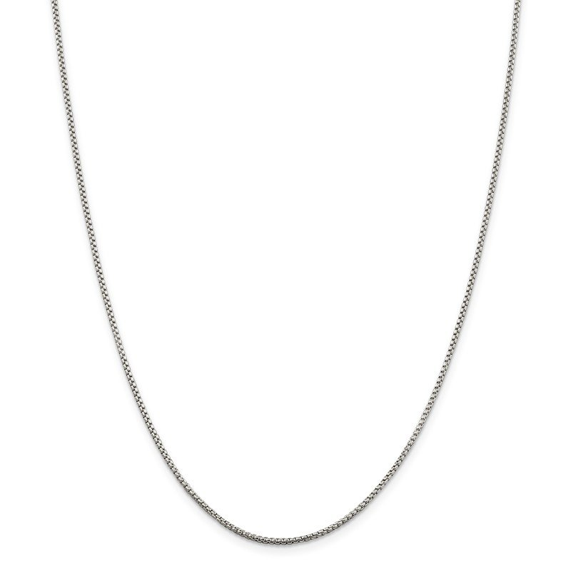 Quality Gold Sterling Silver 1.5mm Round Box Chain