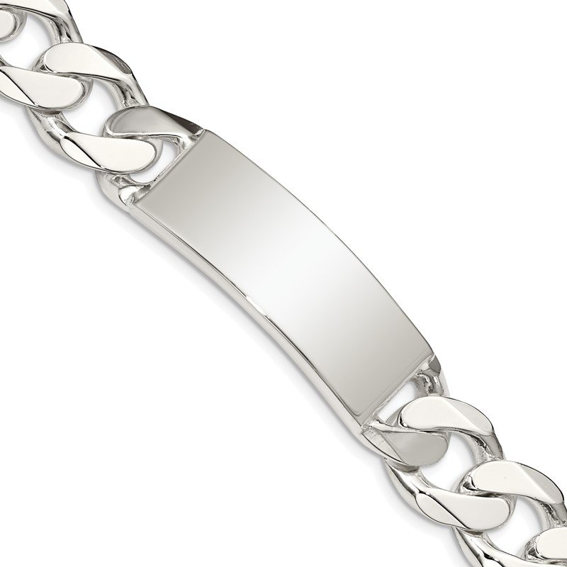 Lester Martin Online Collection Sterling Silver Curb Link ID Bracelet