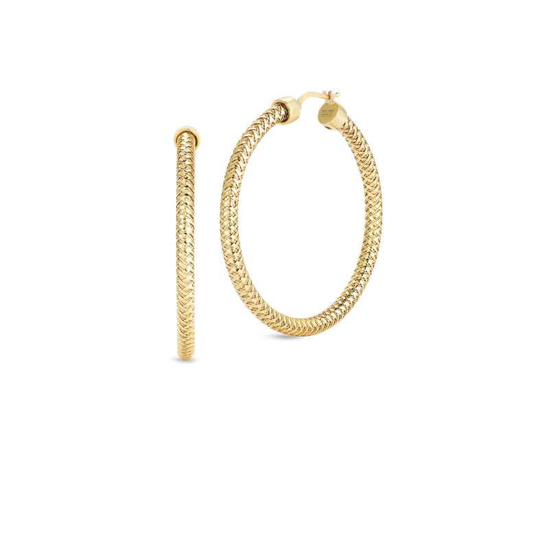 Roberto Coin 18KT GOLD SMALL HOOP EARRINGS