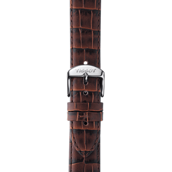 Classic Dream Men's White Quartz Brown Leather Strap Watch