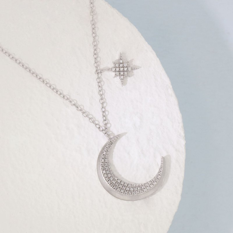 Ella Stein Fly Me To The Moon Sterling Silver Necklace