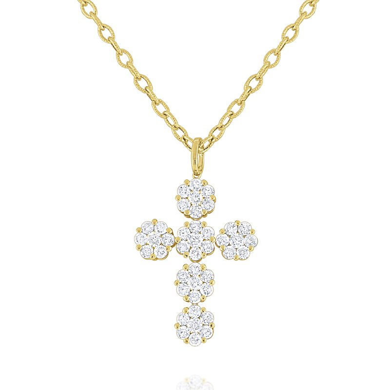 MAZZARESE Fashion Diamond Cross Pendant Set in 14 Kt. Gold