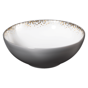Cereal bowl with eclipse grey on the exterior