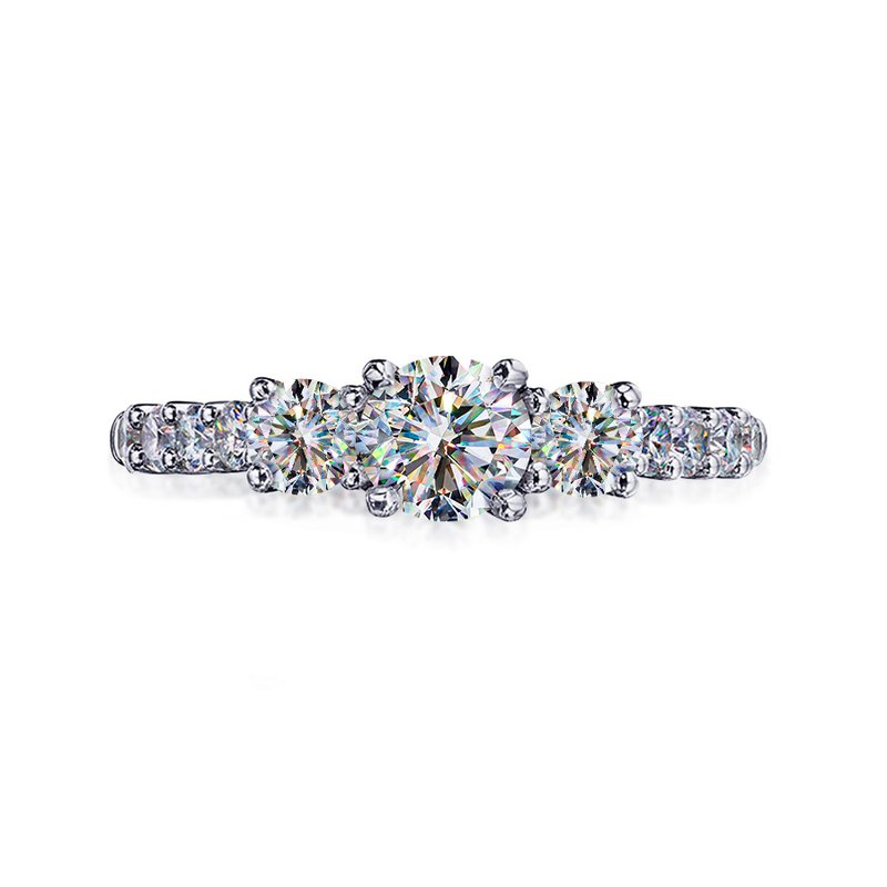 Fire Polish Diamonds Engagement Ring 1 1/6 CTTW