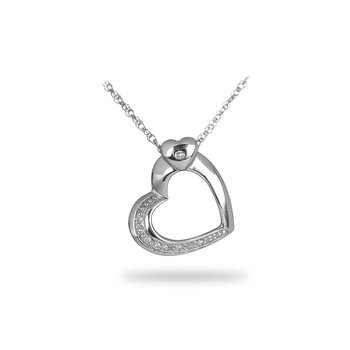 925 SS Diamond Heart Pendant