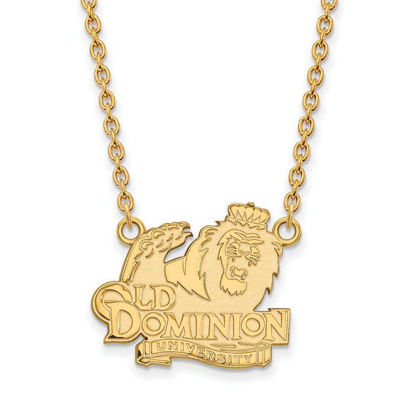 NCAA Gold-Plated Sterling Silver Old Dominion University NCAA Necklace