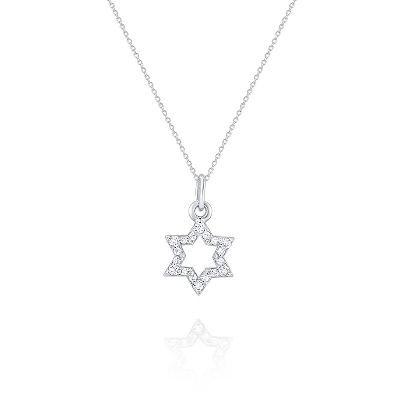 MAZZARESE Fashion Diamond Star of David Pendant Set in 14 Kt. Gold