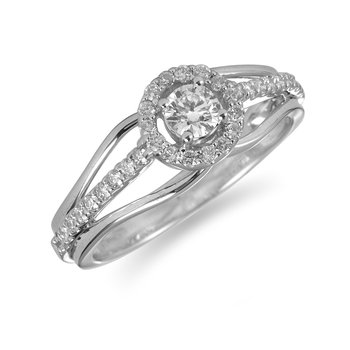 14K WG Daimond Engagement Ring