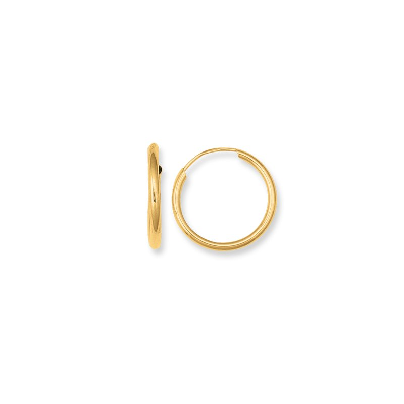 Royal Chain 10K Gold Endless Hoop Earring