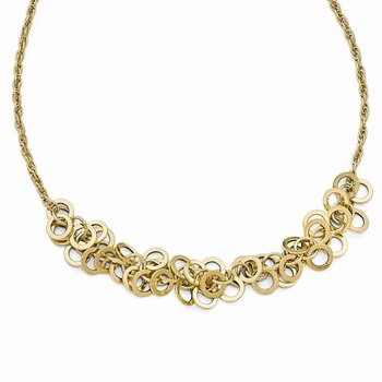 Leslies 14k Polished Fancy Link Necklace