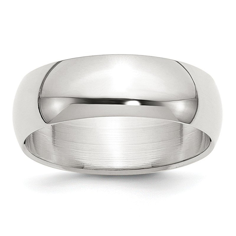 Quality Gold Sterling Silver 7mm Half-Round Band