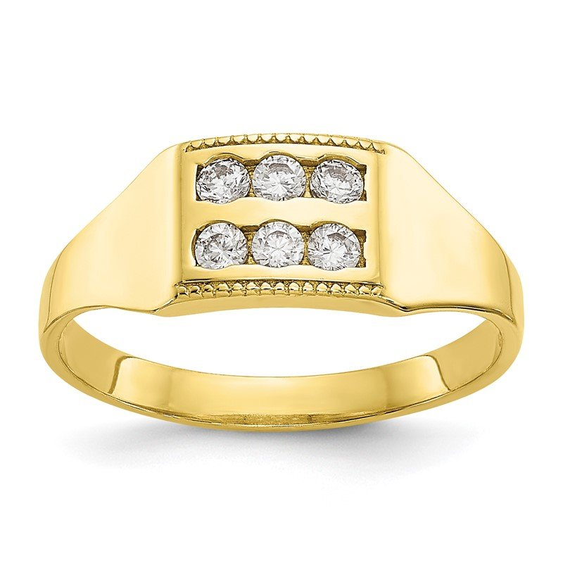 Quality Gold 10k CZ Polished Child's Ring
