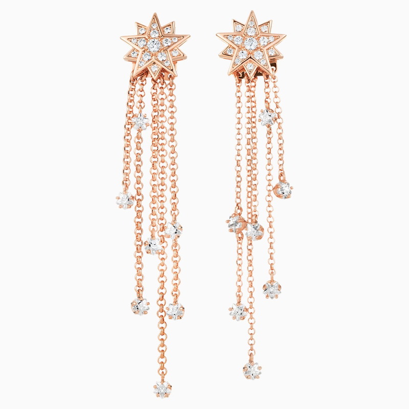 Penélope Cruz Moonsun Strand Pierced Earrings, Limited Edition, White,  Rose-gold tone plated