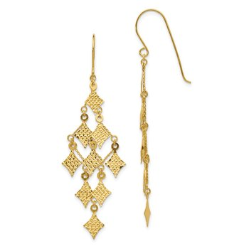 14k Diamond-cut Chandelier Earrings