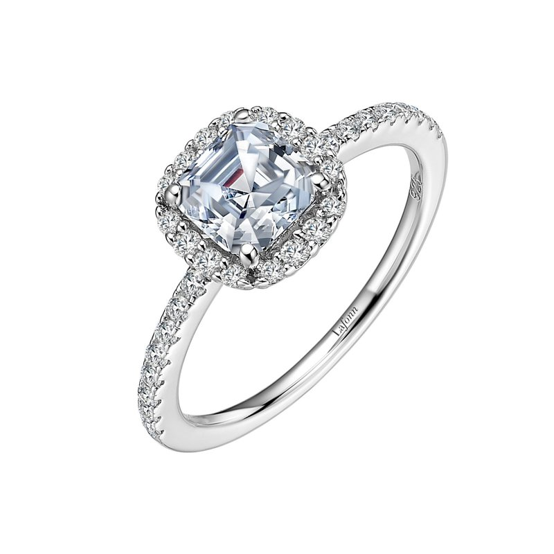 LaFonn Asscher-Cut Halo Engagement Ring
