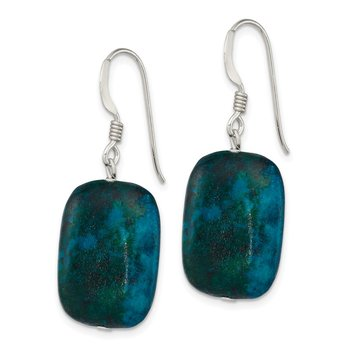 Sterling Silver Stabilized Chrysocolla Earrings