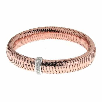 Flexible Bangle With Diamonds &Ndash; 18K Rose Gold