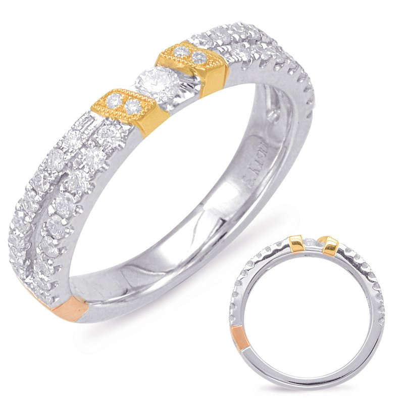S. Kashi & Sons Bridal Yellow & White Gold Matching Band