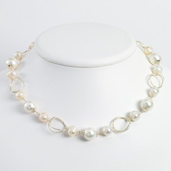 Sterling Silver FW Cultured Pearl 19in Necklace
