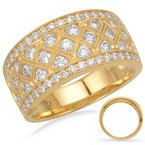 S. Kashi  & Sons Yellow Gold Diamond Band