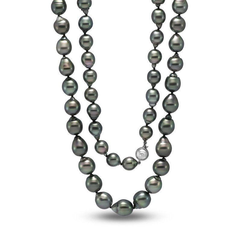 Mastoloni Pearls Drop Baroque Shape Tahitian Pearl Strand Necklace